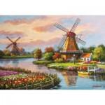 Puzzle  Art-Puzzle-4354 Windmills
