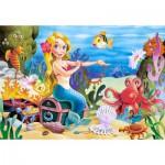 Puzzle  Castorland-06588 Die kleine Meerjungfrau