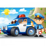 Castorland-08521-BP3 Minipuzzle - Polizei