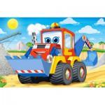 Castorland-08521-BP6 Minipuzzle - Baggerlader