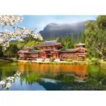 Puzzle  Castorland-101726 Byodoin-Tempel in Uji, Japan