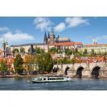 Puzzle  Castorland-102426 Prag, Tschechien
