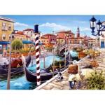 Puzzle  Castorland-103058 Venezianischer Kanal in Italien