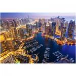 Puzzle  Castorland-103256 Dubai bei Nacht