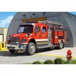Puzzle  Castorland-12831 Feuerwehrauto