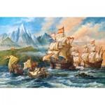 Puzzle  Castorland-151349 Abenteuer in der Neuen Welt
