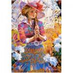 Puzzle  Castorland-151363 Frau mit Sonnenschirm