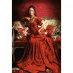 Puzzle  Castorland-151370 Schönheit in Rot