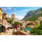 Puzzle  Castorland-151387 Altstadt von Mostar, Bosnien-Herzegovina