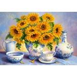 Puzzle  Castorland-200481 Trisha Hardwick: Blaues Gold