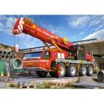 Castorland-21048 2 Puzzles - Schaufelbagger und Feuerwehrauto