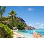Puzzle  Castorland-300228 Tropenstrand, Seychellen