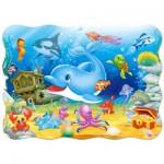 Puzzle  Castorland-3501 Freunde unter Wasser
