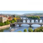Puzzle  Castorland-400096 Karlsbrücke, Prag, Tschechien