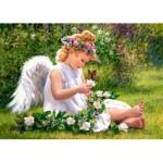Puzzle  Castorland-51991 Engel im Garten