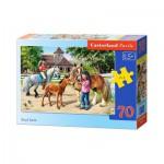 Puzzle  Castorland-B-007066 Der Reiterhof