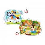 Castorland-B-020041 2 Formpuzzles - Schneewittchen und die Sieben Zwerge