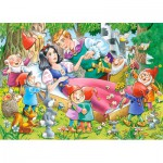 Castorland-B-035175 Minipuzzle - Schneewittchen und die Sieben Zwerge
