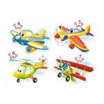 Castorland-B-04447 4 Puzzles - Flugzeuge