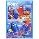 Clementoni-07024 2 Puzzles - Finding Dory