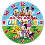 Clementoni-23018 Mickey Mouse Club Haus - Puzzleuhr mit Mechanismus