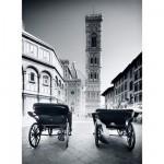Puzzle  Clementoni-30347 Florenz in schwarz-weiß