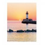 Puzzle  Clementoni-35003 Sonnenuntergang am Leuchtturm