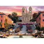 Puzzle  Clementoni-39219 Dominic Davison: Romantic Italy - Rom