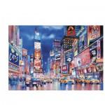 Puzzle  Clementoni-39249 Fluoreszierend - Die Lichter von New York
