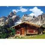 Puzzle  Clementoni-39297 Berghütte, Österreich