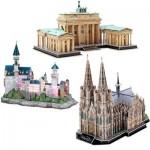 Cubic-Fun-Set-Deutschland 3 3D Puzzles - Deutschland
