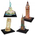Cubic-Fun-Set-LED-Towers 4 3D Puzzles - Set LED Towers