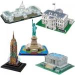 Cubic-Fun-Set-USA 5 3D Puzzles - Set USA
