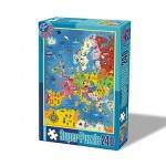 Puzzle  Dtoys-50663-MP-01 Landkarte Europa