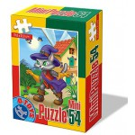 Dtoys-60471-PV-02 Mini Puzzle: Der gestiefelte Kater