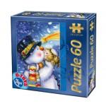 Puzzle  Dtoys-60709-XM-05 Weihnachtsschneemann