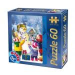Puzzle  Dtoys-60709-XM-07 Der Weihnachtsschneemann