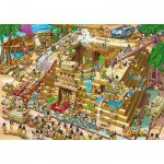 Puzzle  DToys-61218-CC03 Cartoon Collection: Pyramiden in Ägypten