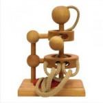 Dtoys-61416-02 Chinesisches Holzpuzzle - IQ Games - Basic 2 - Schwierigkeit 2/5