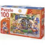 Puzzle  Dtoys-61492-BA-01 Colore Me! Der Wolf und die 3 kleinen Schweinchen