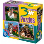 Dtoys-63045-AP-02 3 Tier-Puzzles