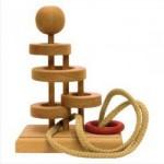 Dtoys-64325-16 Chinesisches Holzpuzzle - IQ Games - Basic 16 - Schwierigkeit 3/5