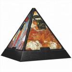 DToys-65957-PP03 3D Pyramide - Ägypten: Malereien / schwieriges Puzzle
