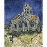 Puzzle  DToys-66916-VG10 Van Gogh: Die Kirche von Auvers sur Oise