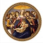 Puzzle  DToys-66985-TM01 Botticelli: Madonna della Melagra
