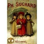 Puzzle  DToys-67555-VP04 Vintage Posters: Chocolats Ph. Suchard