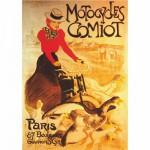 DToys-67579-PS02 Poster - Retro: Motocycles Comiot