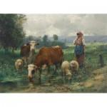 Puzzle  Dtoys-72788-DU-02 Julien Dupré: A Shepherdess with her Flock