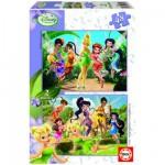 Educa-14660 Puzzle 2 x 48 Teile - Disney Feen