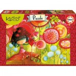 Puzzle  Educa-16813 Kettö: Jungle of Flowers